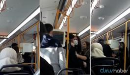 Metroda sarılan sevgililere 'kötü örnek oluyorsunuz' saldırısı