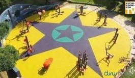'PKK sembolüne benziyor' diye parkın zeminini söktüler