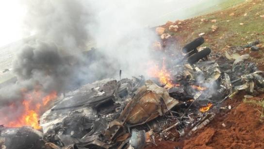 Suriye'de sıcak gelişme! Helikopter düşürüldü